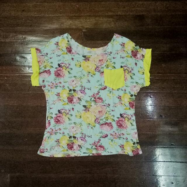 Cropped Floral Top