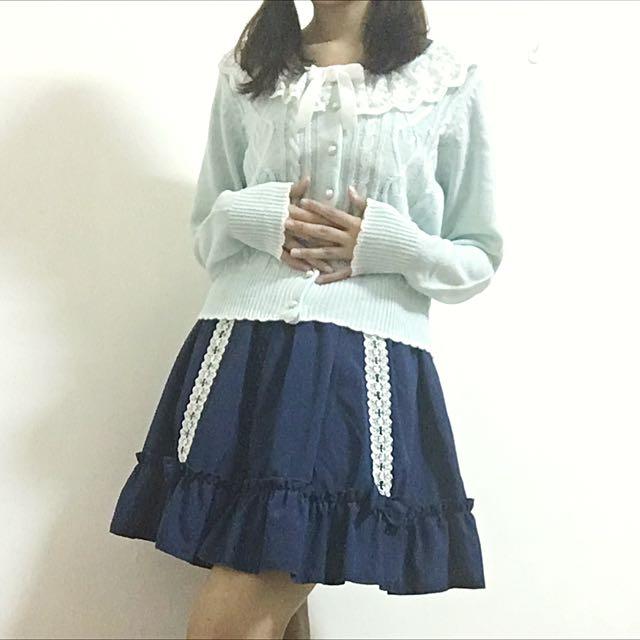全新日貨 Dear My Love 夢展望 蕾絲領愛心針織小外套
