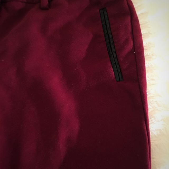 Dress Parts In Burgundy