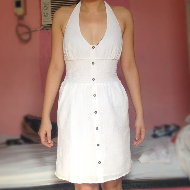 FREESHIPPING G By Guess White Halter Dress