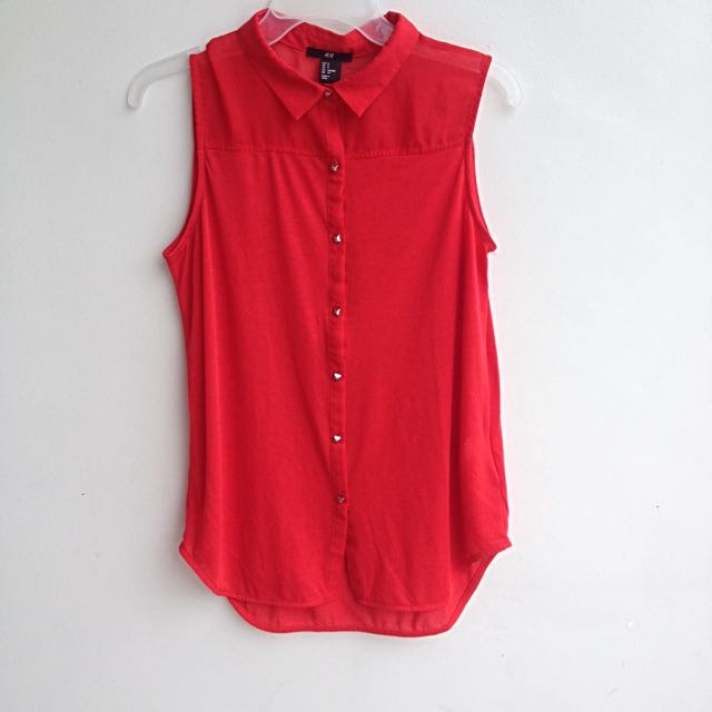H & M Sleeveless Collared Top