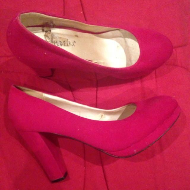 Hot Pink Heels Size 9