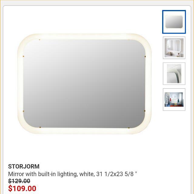 Ikea Storjorm Light Up Mirror