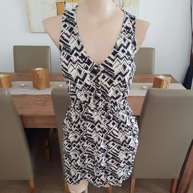 Jay Jays Black & Cream Pattern Dress