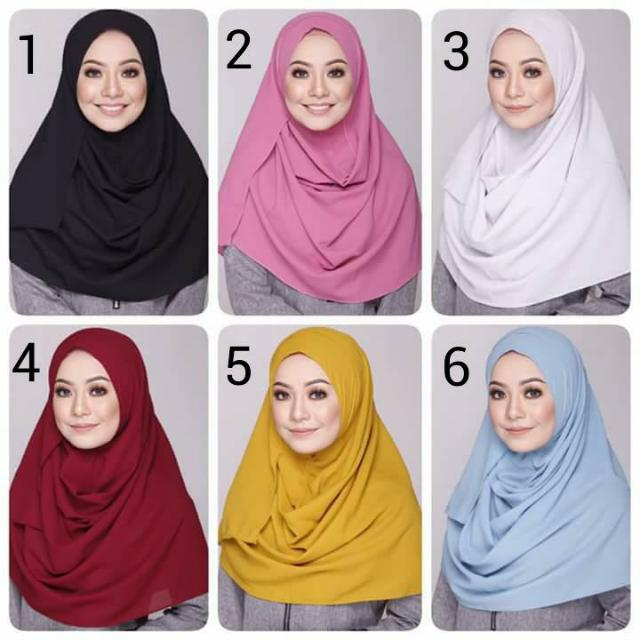 Jilbab Instan / Pastan Dua Lubang