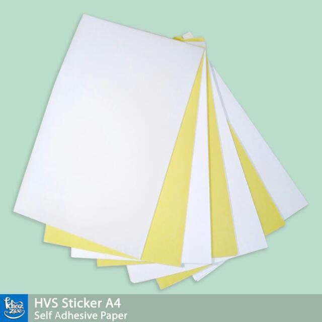 Kertas Sticker HVS A4