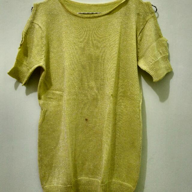 Knit Glitter Yellow