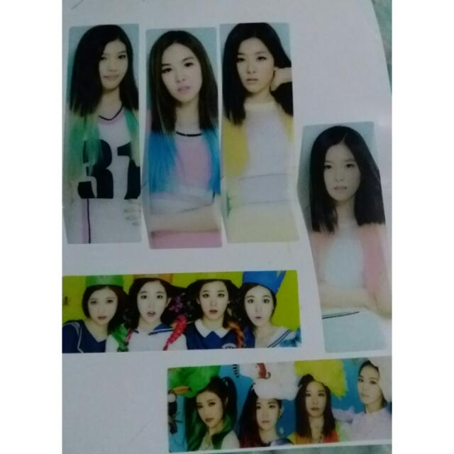 K-Pop Red Velvet 6pcs. bookmarks