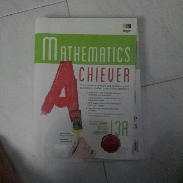 Maths Exercise Book 3E with Answer Sheet