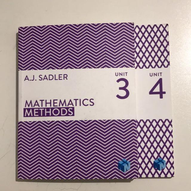 Maths Methods (Year 12 ATAR Units 3&4)
