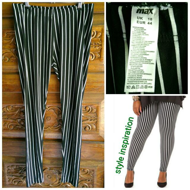 Max Plus Size Stripes Leggings Like Topshop H&M Zara