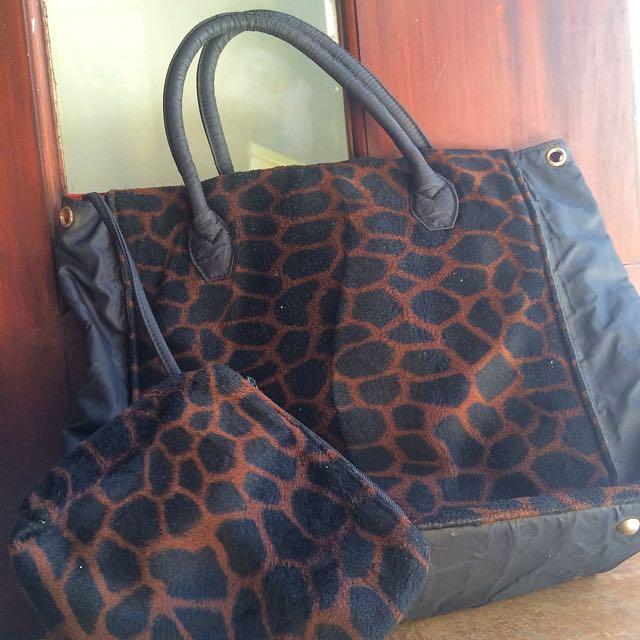 M.E.L Animal Print Tote Bag