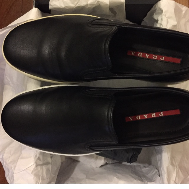 e7b4430c6a Men's Black Prada Loafers (Price Reduced!!), Men's Fashion, Footwear on  Carousell