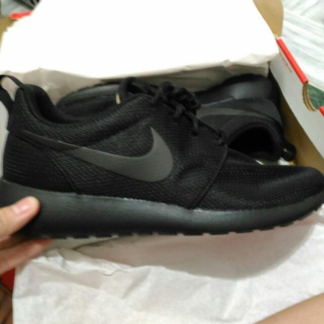 Nike Roshe One 全黑 正品