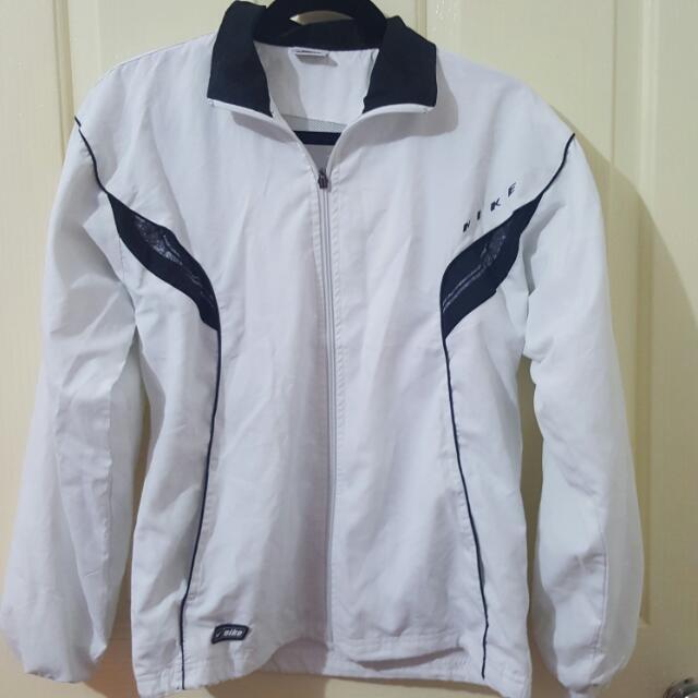 Nike Size L WHITE jacket Tracksuit Unisex Clothing