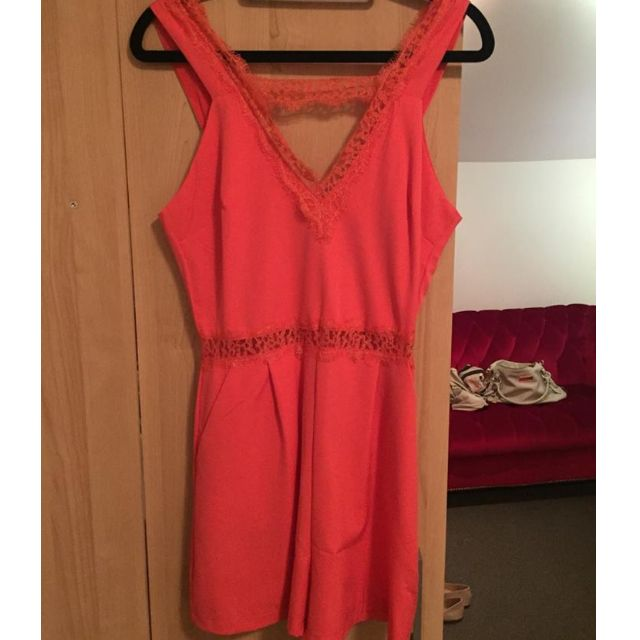 Paper Heart Coral Jumpsuit Size 8 (UK/AU)