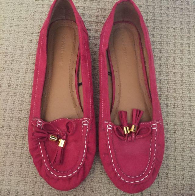 pink slip on flats