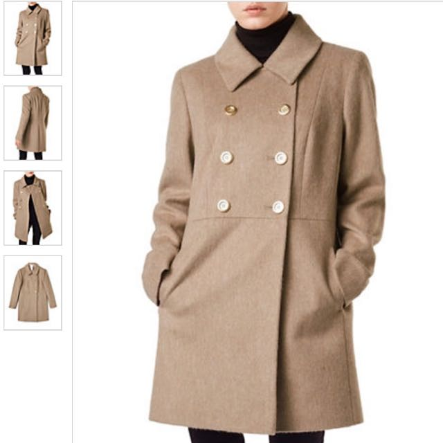 PRECIS PETITE Naomi Double-Breasted Wool-Blend Coat