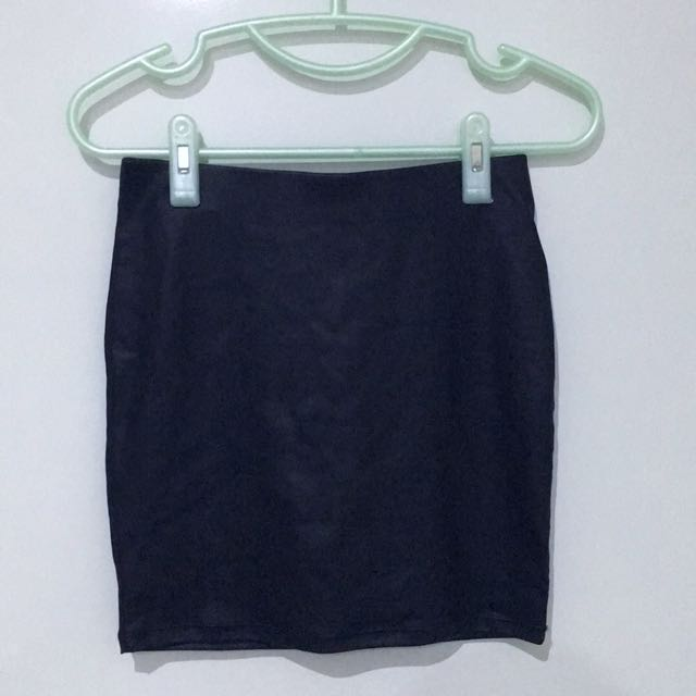 PU Leather Black Mini Skirt (xs)