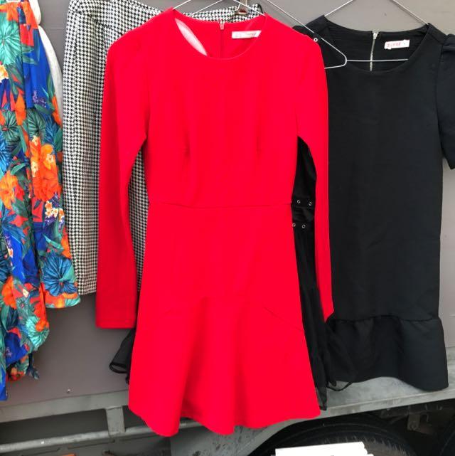 Red Trafaluc Zara Dress