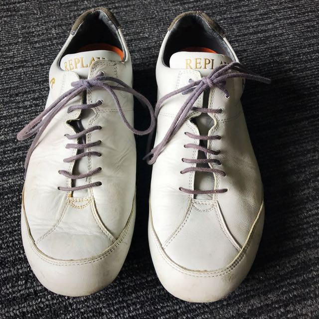 REPLAY men's White Shoes