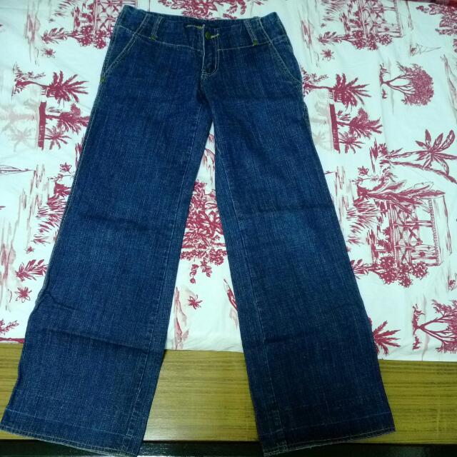 寬筒牛仔褲(S號)