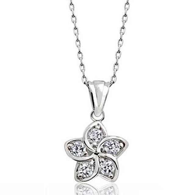 Sterling Silver Beautiful Flower Pendant Necklace