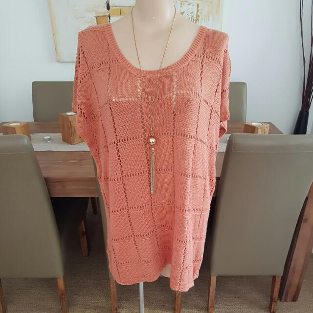 Supre Peachy Brown Light Knit Top