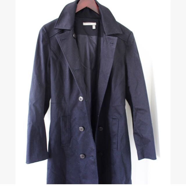 Tristan & America Classic Navy Blue Trench.