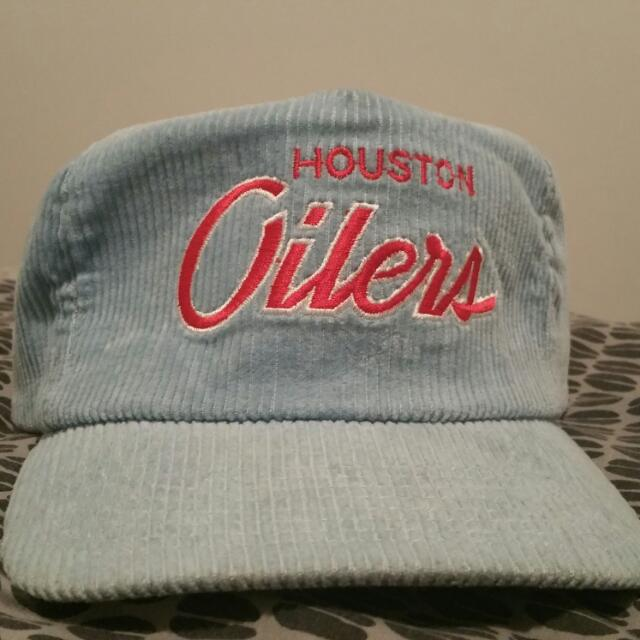 Vintage Corduroy Houston Oilers Sports Specialties Strapback Hat