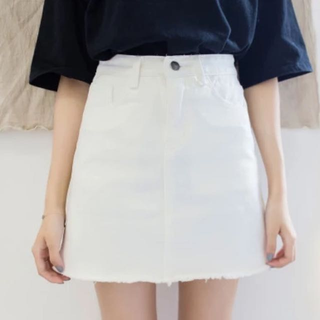 White Denim Skirt Brand New