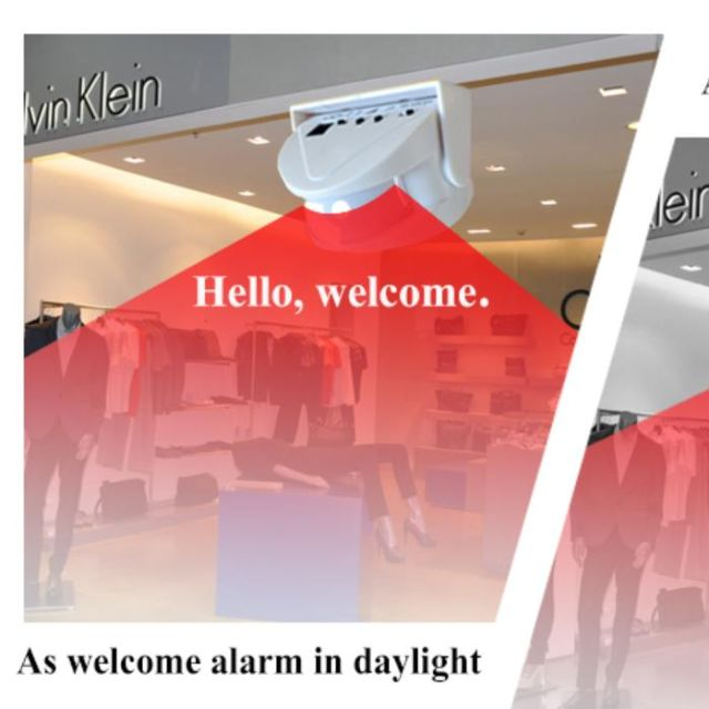 Wireless Door Bell Welcome Chime Alarm Music Switch PIR