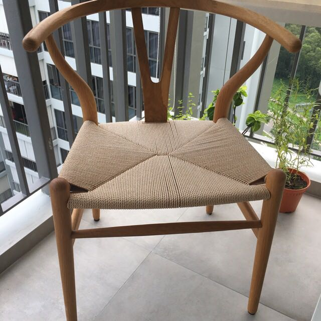 Wooden Chair With Woven Seat Furniture Tables Chairs On Carousell