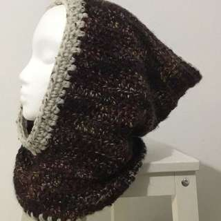 Handmade Hood And Cowl /Hooded Cowl Pullover