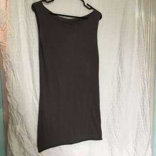 Sz Sm American Apparel Dark Grey Dress