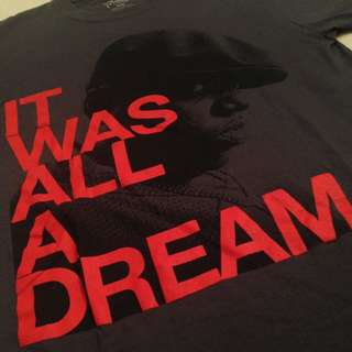 NOTORIOUS B.I.G - PRICE NEGOTIABLE - It Was All A Dream Black T-shirt