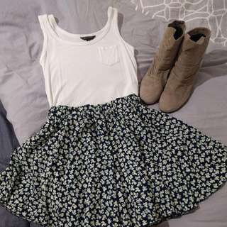 Floral Skirt Size XS - Size S With Shorts Lining