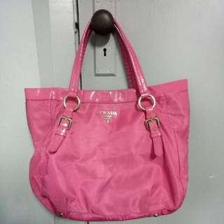 PRADA Nylon Bag in Dark Pink