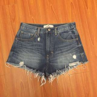 Hollister High Rise Festival Shorts SIZE 3 (w26)