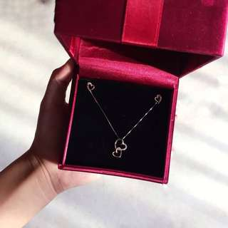 swan heart jewellery set