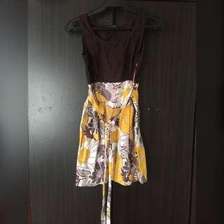 Cute Ribboned Kimono Dress