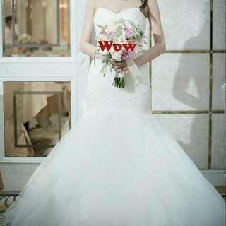 婚紗 魚尾 Wedding Gown 束繩 綁帶
