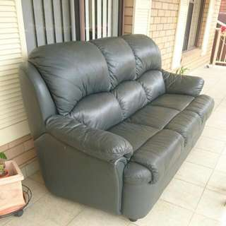 3-seater Real Leather Lounge