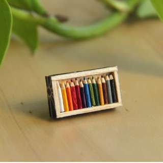 Miniature Brooch - Colour Pencils
