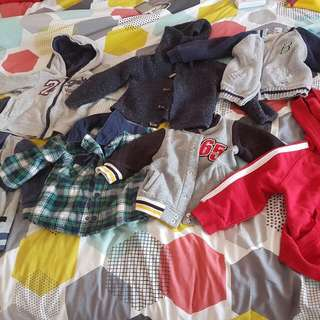 A Beautiful Variety Of Well Kept Boys Jackets Size 1-2. BULK SALE!