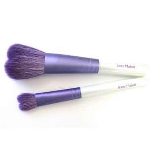 日本手工紫色愛心蜜粉刷/眼影刷 套組