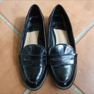 Stradivarius Black Patent Loafers