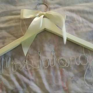 Customised Wedding Hanger