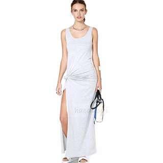 Grey long dress