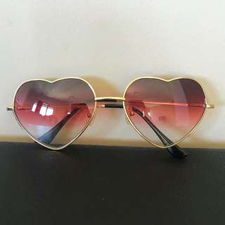 Beginning Boutique Love Heart Sunglasses